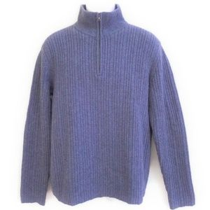 Banana Republic Sweater Wool Camel Hair Blue M